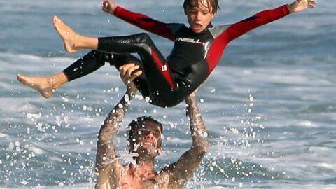 DIAPO David Beckham s'éclate dans l'eau avec ses enfants