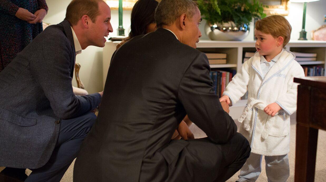 PHOTOS Le prince George reçoit les Obama… en pyjama!