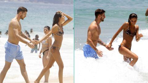PHOTOS Kevin Trapp:  le gardien du PSG et le top Izabel Goulart, très, très amoureux à la plage