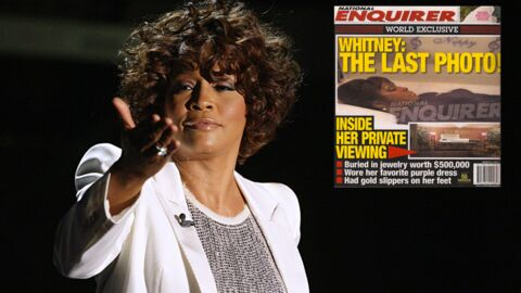 Une photo de Whitney Houston dans son cercueil en une d'un tabloïd