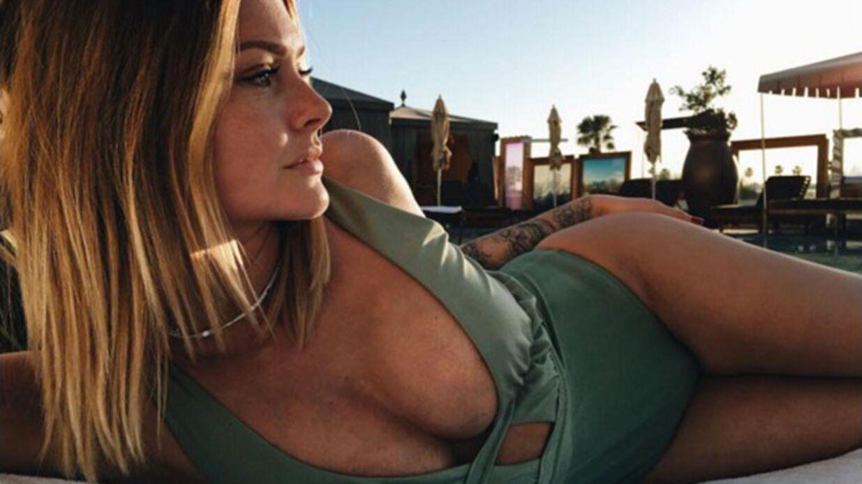 PHOTOS Caroline Receveur prend le soleil dans un maillot de bain outrageusement décolleté