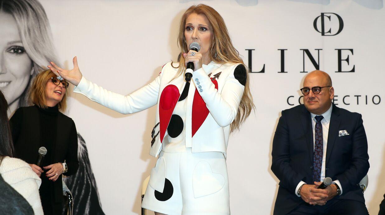 PHOTOS Céline Dion en cuissardes pour présenter sa collection de sacs à main