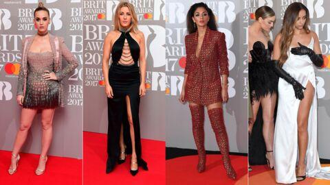 PHOTOS Brit Awards 2017: une chanteuse des Little Mix en montre trop, Ellie Goulding ultra décolletée