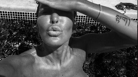 PHOTO Topless, Ophélie Winter nous fait un «bisou du matin»