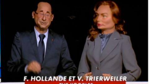 VIDEO La marionnette de Valérie Trierweiler débute aux Guignols