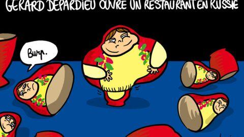 Louison a croqué: Gérard Depardieu va ouvrir un restaurant en Russie