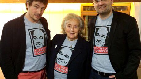Bernadette Chirac et son étonnant t-shirt représentant son mari!