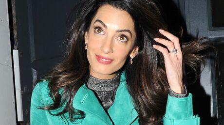 Amal Clooney ne veut plus porter son alliance à 640 000 euros au bureau, ça fait trop bling-bling