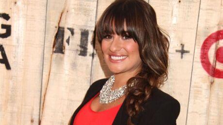 Lea Michele porte un collier d'hommage à Cory Monteith