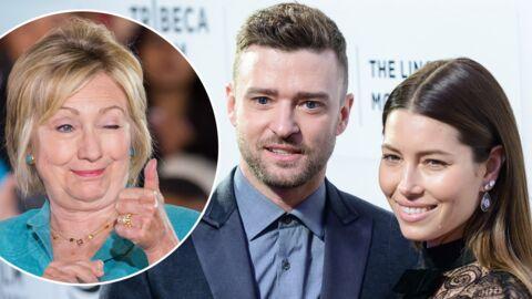 Justin Timberlake et Jessica Biel: leur séance photo délirante avec Hillary Clinton