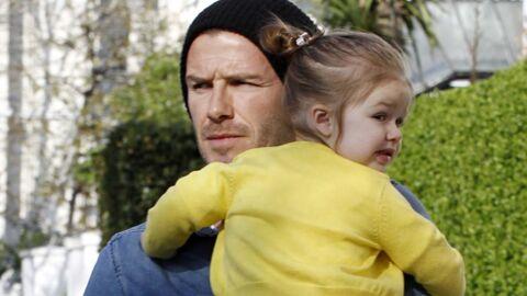 DIAPO Trop craquants Harper et David Beckham