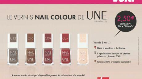 Cette semaine avec Voici, un vernis à ongles Nail Colour de UNE, natural beauty