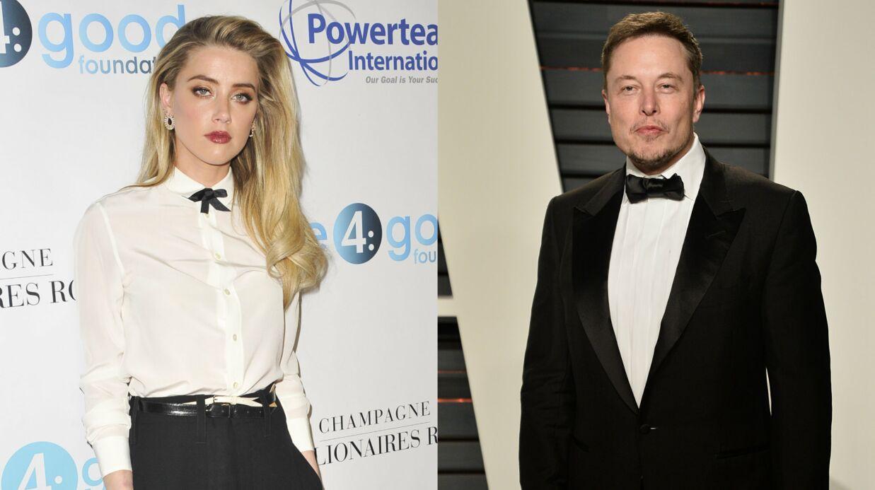 PHOTO Amber Heard en couple avec le milliardaire Elon Musk: c'est officiel