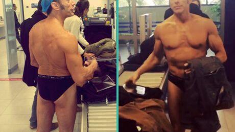 VIDEO Gérard Vivès (Danse avec les stars) en slip à l'aéroport