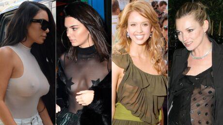 PHOTOS Kendall Jenner, Jessica Alba… ces stars s'affichent seins nus sous leur top transparent