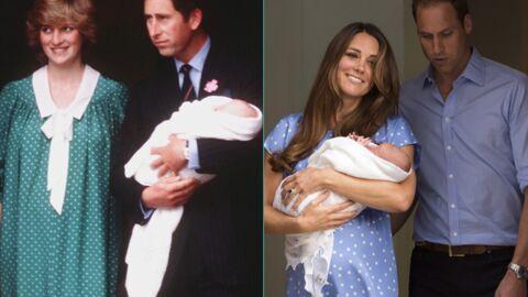 DIAPO La présentation du royal baby, un doux rappel de celle de William en 1982
