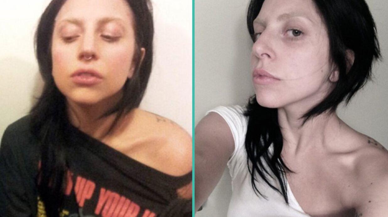 PHOTOS Troublante Lady Gaga sans maquillage et piercée