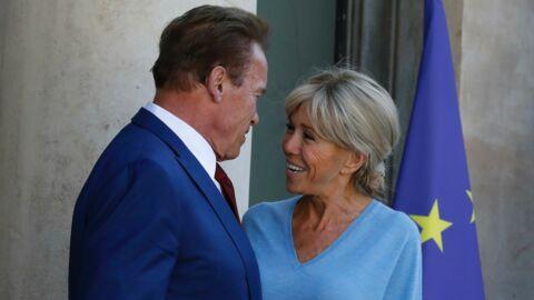 PHOTOS Brigitte Macron très proche d'Arnold Schwarzenegger lors de sa visite à l'Élysée