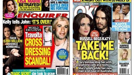 En direct des US: Megan Fox est enceinte, John Travolta se travestit en femme