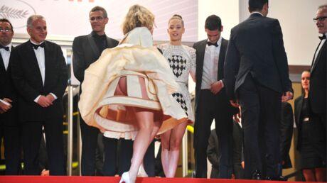 DIAPO Cannes: sur les marches, une actrice en dévoile trop à cause du vent