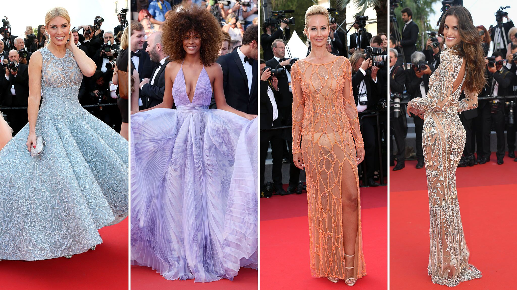 PHOTOS Cannes 2017 : Hofit Golan et Lady Victoria Hervey montrent leurs seins sur les marches