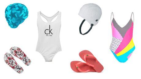 PHOTOS Maillots de bain, claquettes, bonnets: notre sélection mode pour être stylée à la piscine