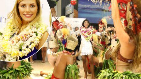 PHOTOS L'arrivée endiablée à Tahiti des candidates de Miss France 2016 avec Camille Cerf