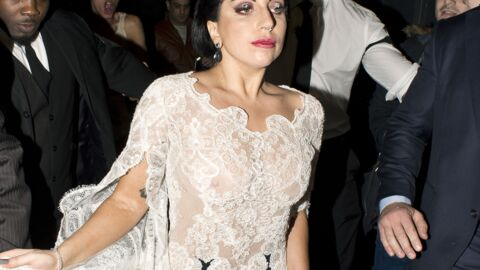 PHOTOS Lady Gaga dévoile sa poitrine sous un haut transparent