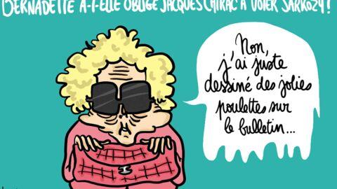 Louison a croqué… Bernadette aurait obligé Jacques Chirac à voter Sarkozy