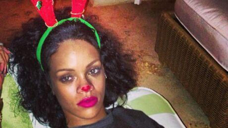 PHOTOS Rihanna fête Noël déguisée en renne sexy