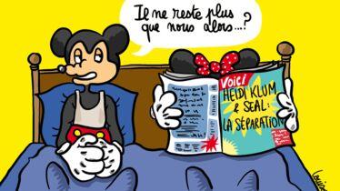 Mickey et Minnie dévastés pour Seal et Heidi