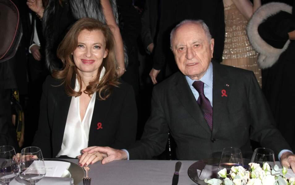 Valérie Trierweiler et Pierre Bergé