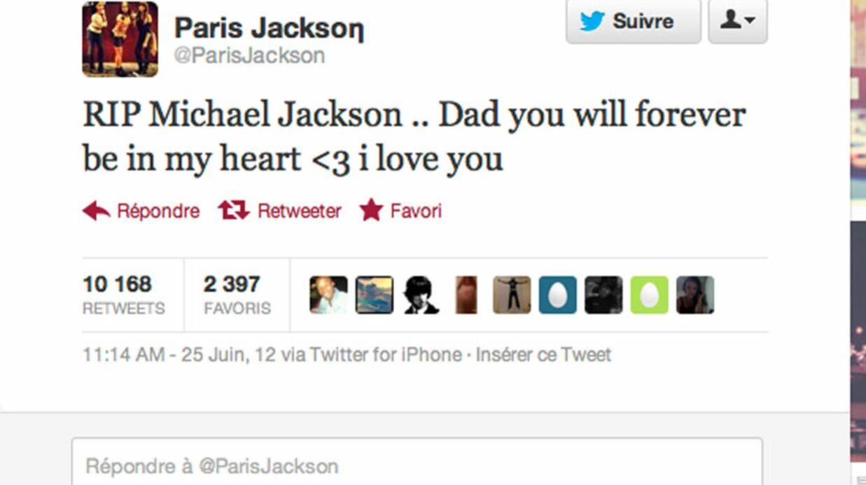 Paris Jackson rend hommage à son père sur Twitter