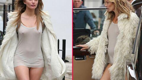 DIAPO Kate Moss doit utiliser un double de corps à cause de son ventre