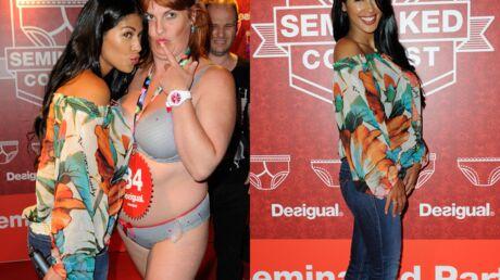 PHOTOS Ayem jurée de charme à un concours de strip-tease Desigual