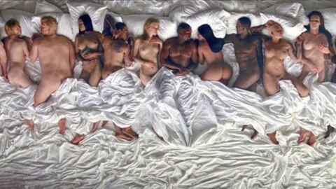 VIDEO Kanye West nu et au lit avec 11 autres personnalités dans son nouveau clip
