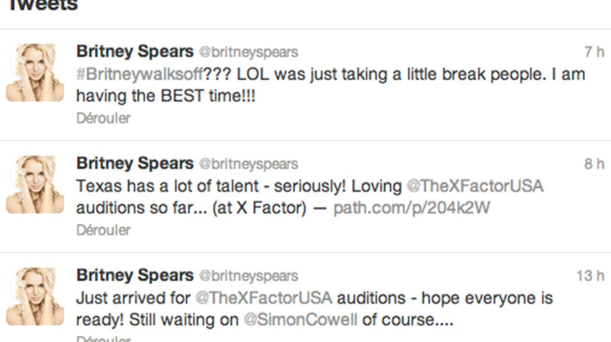 Britney Spears quitte X Factor en plein casting