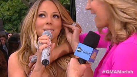 La robe de Mariah Carey craque en plein direct
