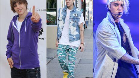 DIAPO L'évolution look de Justin Bieber: de gentil garçon à mèche au bad boy peroxydé