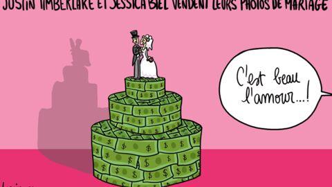 Louison a croqué: 300 000 dollars pour les photos de mariage de Jessica Biel et Justin Timberlake