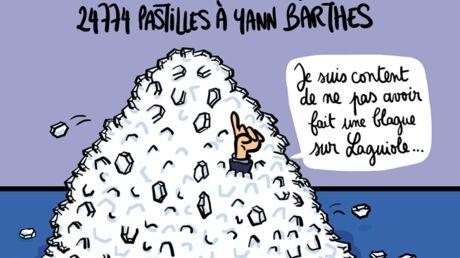 Louison a croqué: un élu de Vichy envoie 24 774 pastilles à Yann Barthès