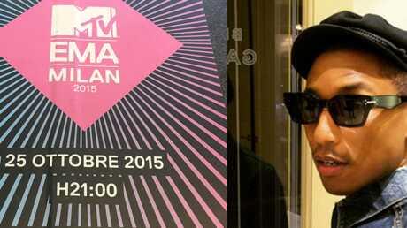 MTV EMA 2015: Pharrell Williams fait monter la pression à Milan