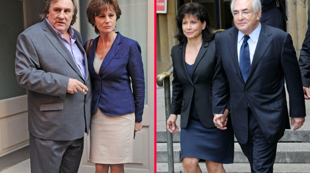 DIAPO Gérard Depardieu et Jacqueline Bisset en DSK et Anne Sinclair