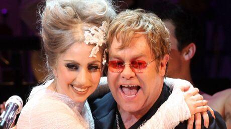 Lady Gaga marraine des deux fils d'Elton John