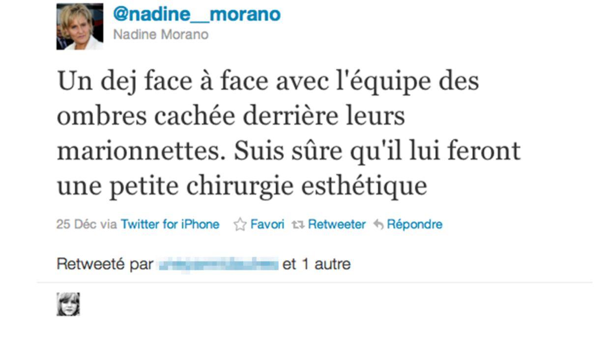 Nadine Morano s'énerve encore contre les Guignols