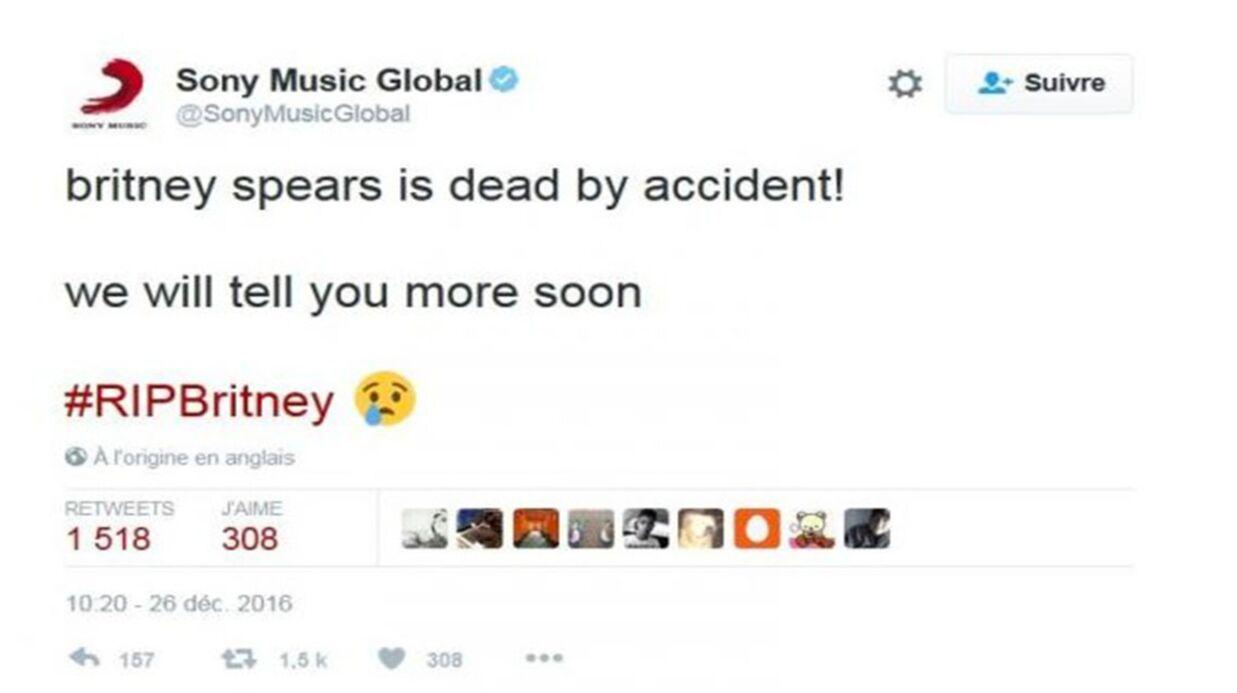 Britney Spears: Sony Music annonce la mort de la chanteuse après un piratage
