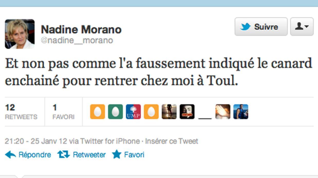 Nadine Morano donne sa version de l'accident via Twitter