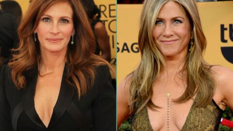 PHOTOS Jennifer Aniston et Julia Roberts ultra décolletées aux SAG Awards