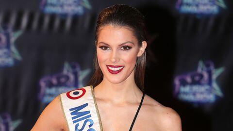 VIDEO Miss Univers: Iris Mittenaere ultra sexy en plumes et bikini en strass du Moulin Rouge