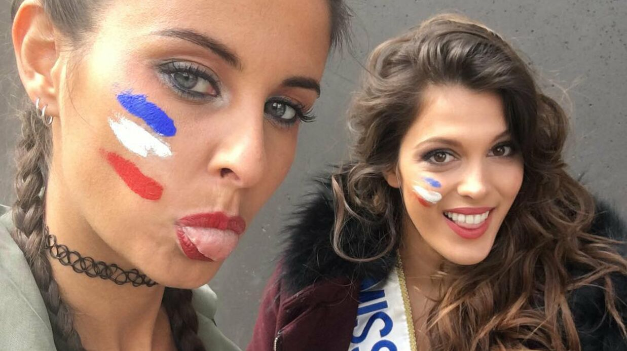 PHOTO Iris Mittenaere et Malika Ménard soutiennent les Bleus pour France/Irlande!